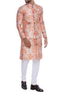rose-print-kurta-nehru-jacket-with-churidar