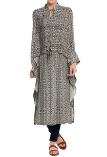 birds-eye-printed-cape-style-kurta