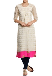 chanderi-silk-foil-printed-kurta