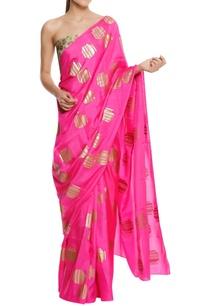 silk-tribal-vase-printed-sari-with-blouse-piece