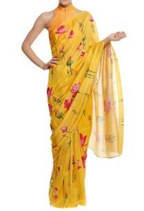 silk-floral-printed-sari-with-blouse-piece