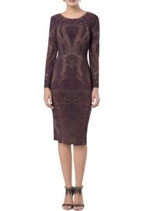 printed-sheath-midi-dress