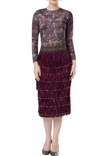 tassel-layered-pencil-fit-skirt