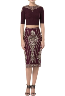 pearl-embroidered-skirt