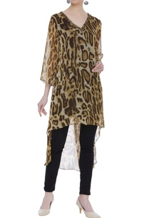 animal-print-asymmetric-tunic