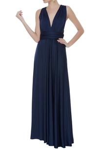 knit-v-neck-gown