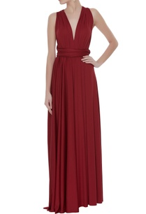 knit-draped-pleated-gown