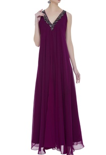 asymmetric-gown-with-embellished-neckline