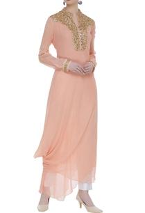 drape-style-kurta-with-sequin-work