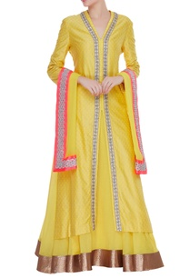 pure-chanderi-silk-long-jacket-with-skirt-dupatta