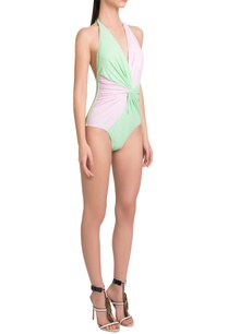 color-blocked-halter-neck-drapped-maillot