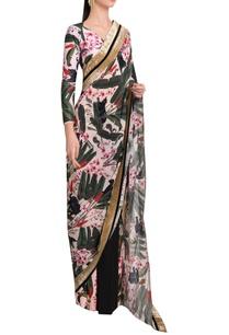 palmera-sari-with-velvet-overlap-blouse