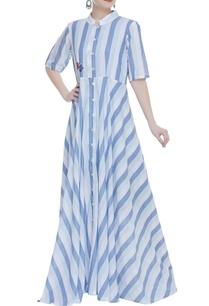 long-stripe-jacket-with-short-dress