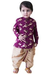 cotton-cloud-bird-printed-kurta-with-dhoti