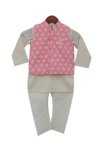 cotton-silk-kurta-chuidar-with-embroidered-jacket