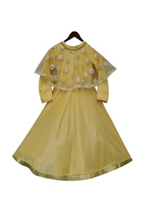cotton-gown-with-mirror-work