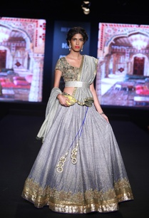 embroidered-lehenga-with-golden-blouse-and-dupatta