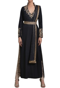 embroidered-long-kurta-with-pants-and-dupatta