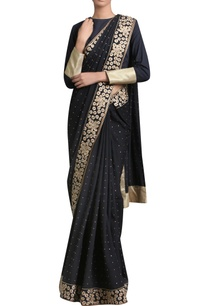 golden-embroidered-sari-with-blouse