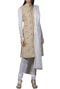 embroidered-straight-fit-kurta-with-dupatta-and-churidar