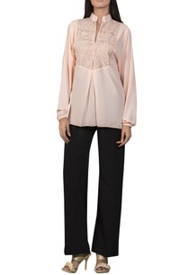 laser-stripe-embroidered-yoke-blouse