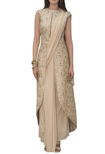 pre-pleated-sari-with-embroidered-blouse