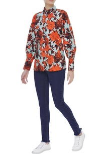 floral-print-button-down-shirt