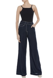 linen-high-waist-flared-pants