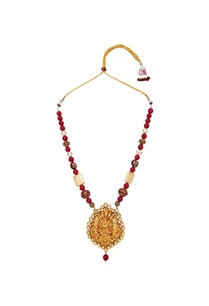 temple-pendant-multi-faceted-bead-long-necklace