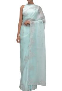 silk-organza-satin-sari-with-sleeveless-blouse
