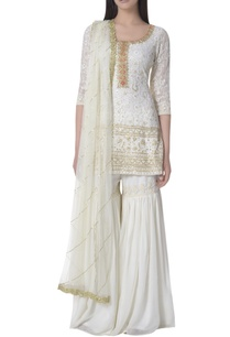 pearl-sequin-lucknowi-embroidered-kurta-set