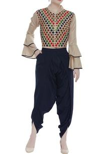 linen-satin-jacket-dhoti-pants