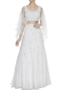 embroidered-lehenga-with-frill-sleeves-blouse