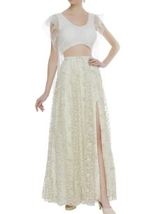 frilly-blouse-with-side-slit-lehenga