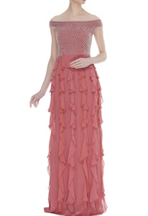 embroidered-frill-detail-gown