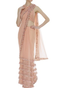frill-sari-with-embroidered-blouse