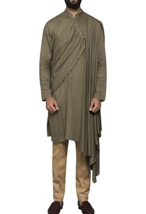pleated-drape-kurta