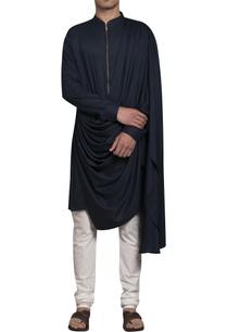 drape-kurta-with-zippered-closure