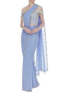 pearl-embroidered-off-shoulder-blouse-with-sari