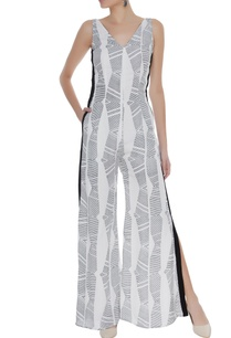 block-printed-jumpsuit-with-slits