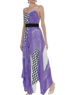 hand-block-printed-asymmetric-dress-with-belt
