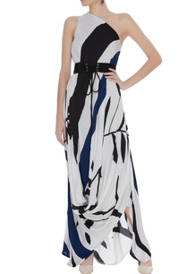 one-shoulder-draped-dress-with-belt