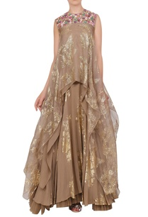 organza-asymmetric-tunic-with-crepe-silk-foil-printed-lehenga