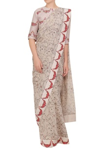 floral-hand-painted-chiffon-sari-with-blouse