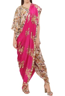 floral-hand-painted-dhoti-sari-with-blouse