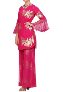 organza-sequin-embroidered-kurta-set