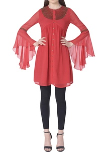 pleated-embroidered-tunic