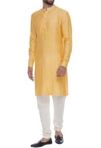 resham-embroidered-kurta-with-churidar