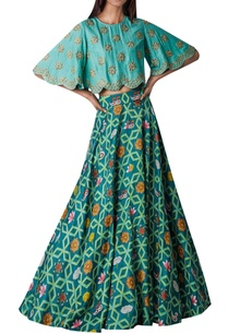 embroidered-cape-with-printed-lehenga