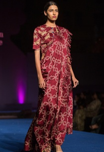 printed-fringe-detailed-sari-with-blouse